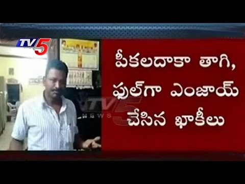 Excise police caught drinking liquor on Republic Day