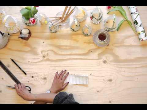 Photowall tutorial - wallpaper lantern diy