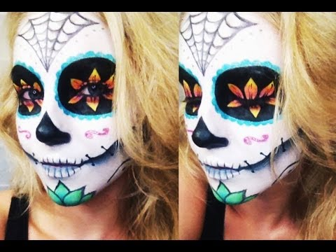 Baixar Sugar Skull Halloween Tutorial ♡ Collab w/ AlliNicoleee and MakeupWithJah!