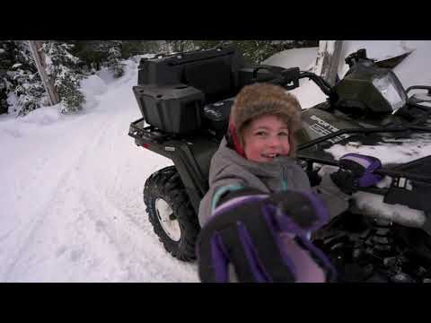 A Typical Day at Home - ATV SNOWPLOW, CANVAS TENT, FROZEN LAKE, KIDDOS, DOGGOS