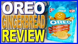 Oreo Gingerbread Flavoured Cream Limited Edition Cookie Review