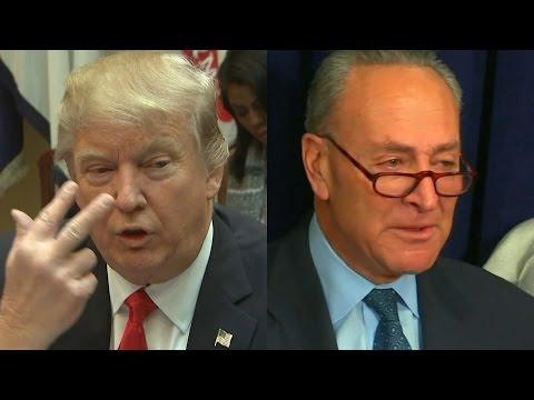 Trump mocks Schumer for 'fake tears'