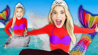 Mermaid Twins for 24 Hour Challenge! Winner Opens New Surprise Mystery Gift From Game Master!