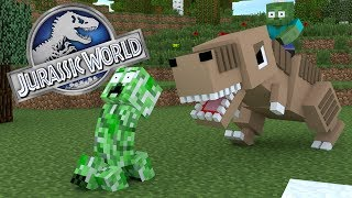 Monster School : JURASSIC WORLD CHALLENGE - Minecraft Animation