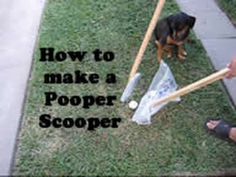 How to make a Pooper Scooper - Como hacer un Pooper Scooper