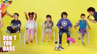 We challenged 5 kids to try not to laugh! | Don't You Dare | HiHo Kids
