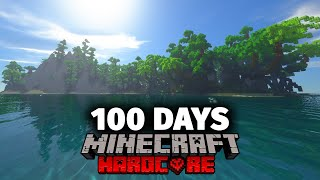 I Spent 100 Days on a Deserted Island in Minecraft and Here's What Happened