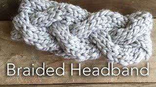 Knitted Braided Headband