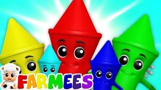 Crayones colores cancion   Musica de niños   Dibujos animados   Farmees Español   Videos educativos