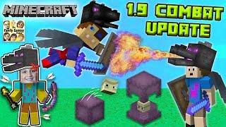 ENDER FIGHTERS? WHAT THE SHULKER? Minecraft 1.9 Combat Update!  (FGTEEV Dad vs. Sons Battle)