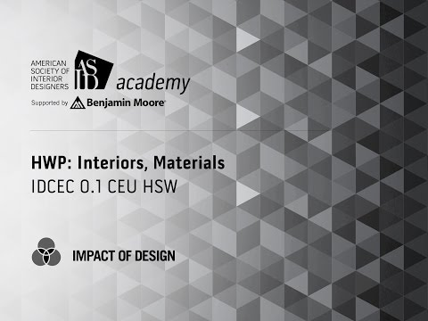 Course Preview: HWP: Interiors, Materials (1)