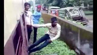 stupid Train Stunt