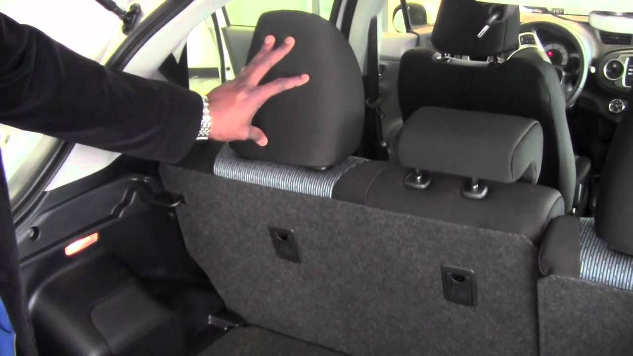 2012 | Toyota | Yaris | Fold Down 2nd Row Seats | How To ...