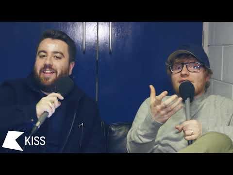 Ed Sheeran Backstage at The BRIT Awards
