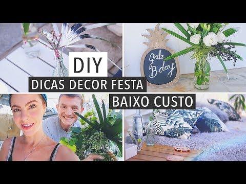 DIY Decor Festa Lounge/Arranjos ! MTAS dicas Baratas
