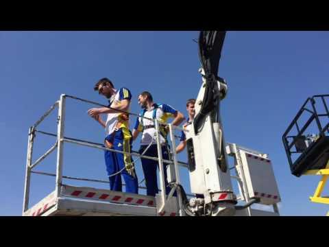 Challenge tour Bluvolley: la squadra Calzedonia Verona in visita da Scaligera Service.