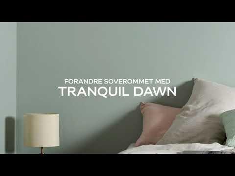 Forandre soverommet med årets farge Tranquil Dawn