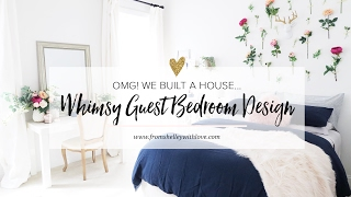 Whimsical Guest Bedroom Makeover | From Shelley With Love