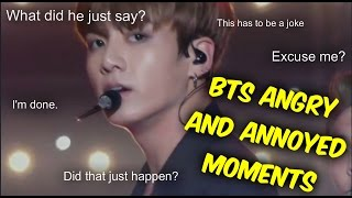 BTS Angry and Annoyed Moments