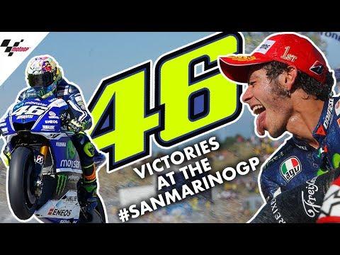 Valentino Rossi's THREE victories at the #SanMarinoGP