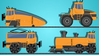 transformer   cartoon trains for children   educational video    trains for kids   kids vehicles