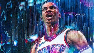 Best Moments Of Russell Westbrook's Third Consecutive Triple Double Season   Game Highlights