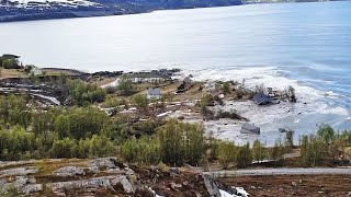 Landslide sweeps Norway homes into the sea..