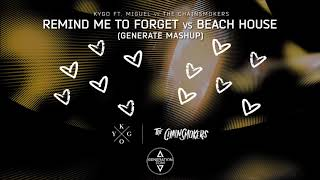 Kygo Ft. Miguel vs The Chainsmokers - Remind Me To Forget vs Beach House (Generate Mashup)