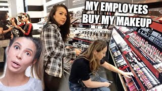 MY EMPLOYEES BUY MY FULL FACE OF MAKEUP!!! LAURA LEE