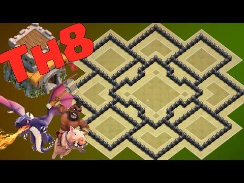 Base War Th 8 Terkuat Dan Terbaik Base Th 8 War Base Coc Th 8