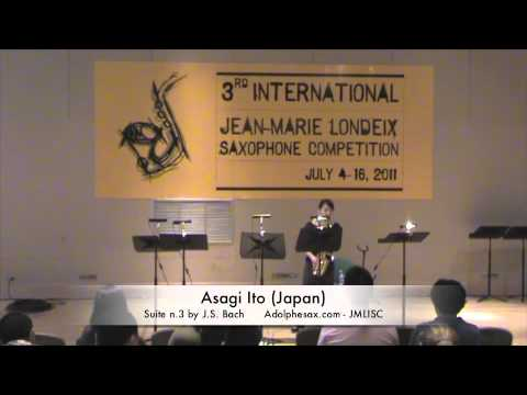3rd JMLISC: Asagi Ito (Japan) Suite N.3 by J.S. Bach