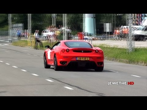 Ferrari F430 F1 w/ CAPRISTO Exhaust ACCELERATIONS! LOUD Sounds!! (1080p Full HD)