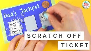 Father's Day Gift Card - How to Make DIY Scratch off Card & Lottery Ticket - Easy Kids Paper Crafts