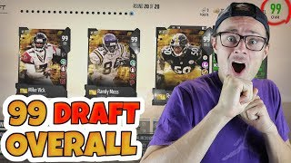 SO MANY GOLDEN TICKETS!? MY FIRST 99 OVERALL MUT DRAFT!! Madden 18 Draft Wager
