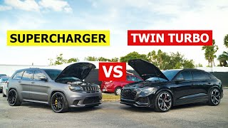 Supercharger vs Twin Turbo! | Jeep Trackhawk vs Audi RSQ8