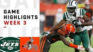 Jets vs. Browns Week 3 Highlights | NFL 2018