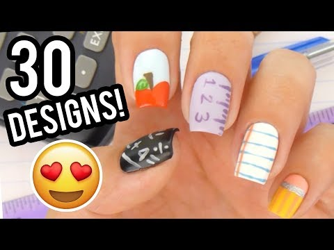30 Easy Back To School Nail Art Designs | New Nail Art Compilation 2019