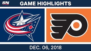 NHL Highlights | Blue Jackets vs. Flyers - Dec 6, 2018