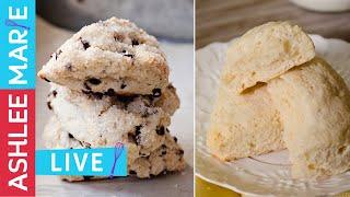 How to make scones two ways - Chocolate chip scones - Lemon scones - Ashlee Marie Recipes