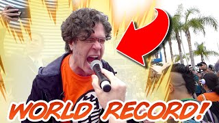 World Record KAMEHAMEHA with Sean Schemmel (Goku Voice Actor)