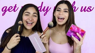 """HOW I """"STOLE"""" TONS OF MAKEUP! (GET READY WITH US)"""