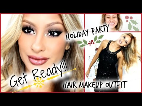 Get Ready Holiday Party! Makeup, hair, & outfit