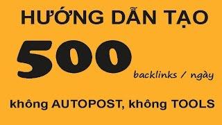 [NHẬT TOP SEO] Hướng dẫn cách đi 500 backlink trong 1 ngày, tôi đã làm được, còn bạn?