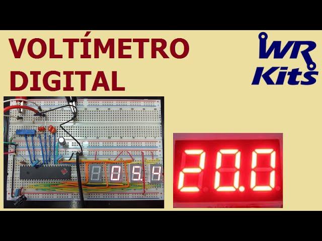 VOLTÍMETRO DIGITAL (MONTE O SEU!)