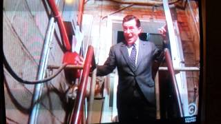 Stephen Colbert kidnaps Vince Gilligan so he can write more BREAKING BAD!!!