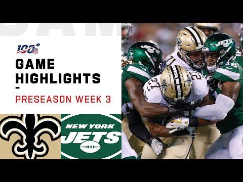 Saints vs. Jets Preseason Week 3 Highlights | NFL 2019