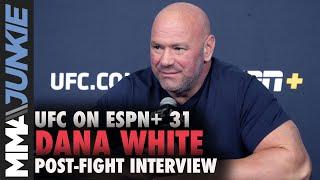 Dana White questions Brunson vs. Shahbazyan stoppage | UFC on ESPN+ 31 post-fight interview