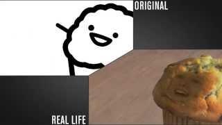asdfmovie7 RealLife/Original Comparison