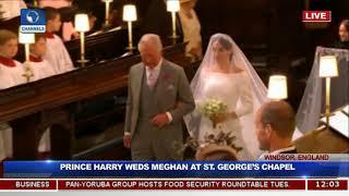 See Prince Harry's Reaction As Meghan Walks Down The Aisle