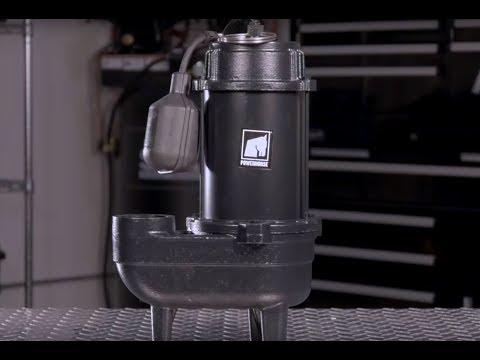 Powerhorse Cast Iron Sewage Pump - 4180 GPH, 1/2 HP, 2in. Ports